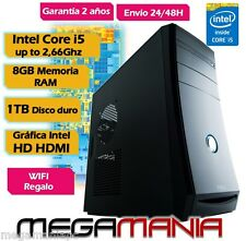 OFERTA PC ORDENADOR SOBREMESA NUEVO INTEL CORE i5  1TB 8GB DDR3 INTEL HDMI GRAPH