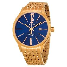TW Steel Blue Dial Rose Gold-tone Stainless Steel Mens Watch