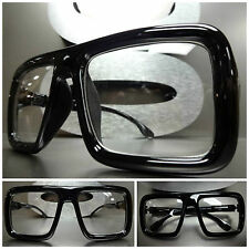 Men's Women OVERSIZE VINTAGE RETRO Style NERD PARTY CLEAR LENS EYE GLASSES FRAME