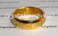 FENG SHUI - SIZE 5 GOLD SACRED MANTRA RING