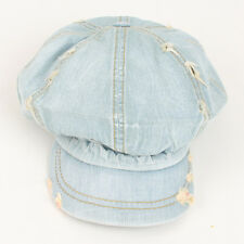 Vintage Denim Applejack Unisex SK Newsboy Cap Woman Jean Cotton Man Golf Ivy Hat