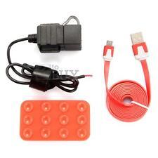 Chargeur Guidon Moto Prise Double USB Etanche Autocollant Câble Micro USB Rouge