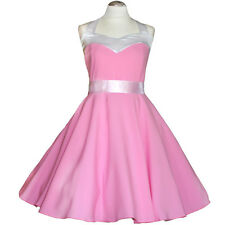 50er Rockabilly Vestito Sottoveste PIN UP PARTY cotone S-M 59 Rosa