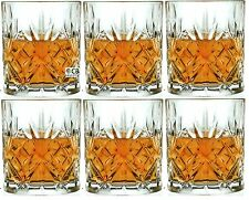 Crystal Melodia Whisky / Wine / Water Glasses 310ml Tumblers (Set of 6)
