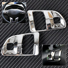 2 Chrome Interior Steering Wheel Trim Molding Cover for Kia Sportage R 2011-2015