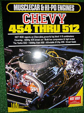 HOT ROD on CHEVY CHEVROLET 454 512 V8 BIG-BLOCK ENGINES tune modify book manual