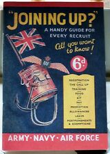 Joining Up - Handy Guide for Every Recruit - Army, Navy, RAF  Replica - Booklet