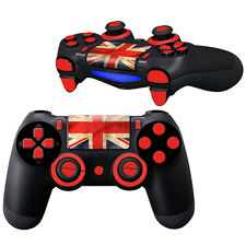 Hot UK Flag Decal Skin Sticker Set For PlayStation 4 PS4 Controller Buttons