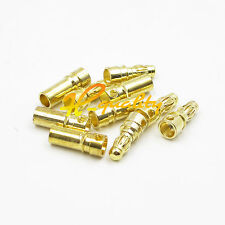 20PCS 10 Pairs RC 3.5mm Male/Female Gold-plated Bullet Banana Plug Connector Set