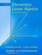 Student Solutions Manual to accompany Elementary Linear Algebra with Application