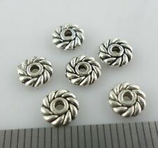 60pcs Tibetan Silver Daisy Flower Crafts Spacer Beads Jewelry Beading 6mm