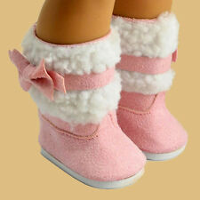 Fashion Pink Shoes Boots For 18 Inch American Girl Doll's Clothes Toy Gift Set