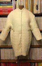 H&M jacket coat FR36 UK10 Trend white cream quilted cocoon