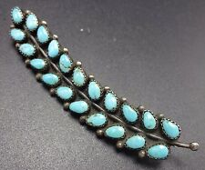 LOVELY Vintage NAVAJO Sterling Silver & Turquoise Petit Point PIN/BROOCH