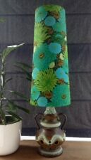 Bespoke Handmade West German Fat Lava Lamp Vintage Fabric Conical Lampshade (M)
