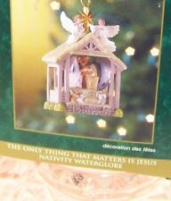 Christmas Celebration Collection NATIVITY WATERGLOBE tree ornament