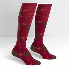 Sock It To Me Women's Knee High Socks - Sasquatch Valentine