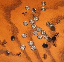 Lot of 25 2-Prong Studs, Silver, 11 mm, Flat Top, 18/#5 SMF NI