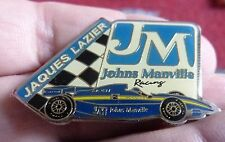 PIN'S COURSE USA INDY CAR F1 PILOTE JAQUES LAZIER TEAM JOHNS MANVILLE RACING