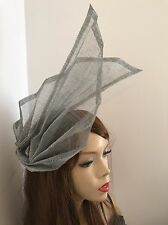 Silver Fascinator Hairband Formal Hat Headband Wedding Hatinator Ascot Races