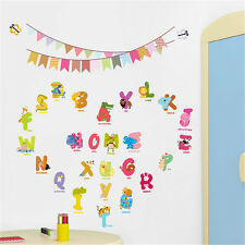 Early Learning Animal Alphabet Letters Removable Kid Boy Girl Wall Sticker Decor