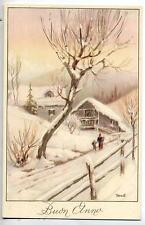 GRANTALIANO Paesaggio Alpino con Neve Vintage PC Circa 1930 Italy 3