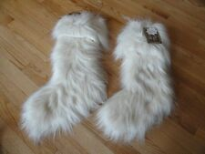 "Nicole Miller Faux Fur Stocking Set 2 Fluffy Stockings Christmas Holiday 22"" NWT"