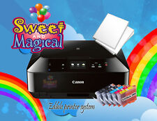 Canon MG6820/21black-silver Edible Printer Bundle ,Ink & Large Frosting Sheetsp