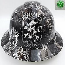 Hard Hat FULL BRIM  custom hydro dipped , RENEGADE BIKER SUPER SICK
