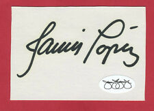 Javier (Javy) Lopez Cut Index Card Autograph JSA  Auto