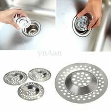 3x Stainless Sink Strainers Bath Basin Plug Hair Traps Filter Blocker Trapper