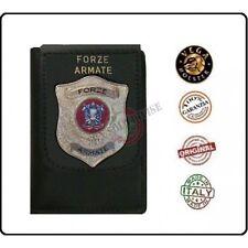 Portafoglio Portadocumenti con Placca Forze Armate E.I. Esercito Italiano Vega