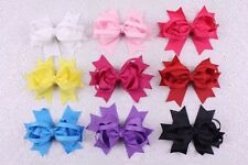 "Wholesale 9pc 4"" solid butterfly tail Boutique Hair Bows For Baby Girls Ribbon"