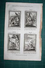 1790 PRINT BANKES BIBLE ~ KING ADONIBEZEK JAEL PUNISHMENT TENT OF JABAL GIDEON'S
