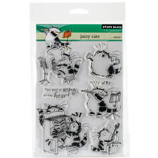 """Penny Black Clear Stamps 5""""X7""""-Jazzy Cats"""