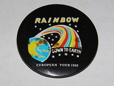 Rainbow - European Tour 1980 Original Vintage Tour Badge Official Deep Purple