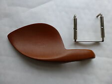 VIOLIN CHIN REST; SOLID CARVED WOOD, BROWN, NEW, 4/4, UK SELLER, LOVELY.