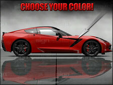 2014 and up Chevy C7 Corvette Side Stripe Decal Graphics Style 2