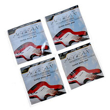 """4 Sets .040-.095"""" Nickelplated Steel Strings For Super Bass Guitar Parts Wound"""