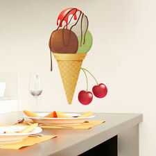 Wall Decals Ice Cream Full Color Decal Colorful Kitchen Cafe Sticker Decor DD7
