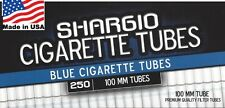 Shargio Blue (Light) 100s Size Cigarette Tubes - 4 Boxes=1,000 Tubes