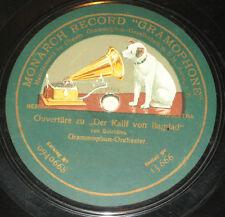 78rpm/Monarch Gramophone 15666/AUBER/OUVERTÜRE ZU FRA DIAVOLO/DER KALIF VON BAGD