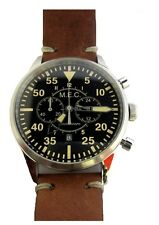 Orologio Uomo Cronografo Automatico Vintage Acciaio Militare Subacqueo al Quarzo