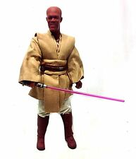 "STAR WARS 12"" 1/6th scale MACE WINDU Jedi Master action figure, RARE, NICE"