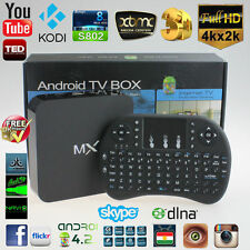 MX2 KODI XBMC Android 4.2 Smart TV Box FULLY LOADED 4K Dual Core 1080P WIFI I8