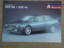 MASERATI UK SALES LEAFLET - 222 SR & 222 4v (1993-95)