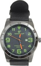 Smith & Wesson SWWMX27 Field Watch Black Stainless/Green Accents 1.5""