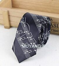 FREE GIFT BAG Men's Wear Black Music Tie New Year Birthday Wedding Party Novelty