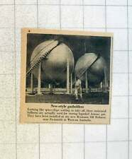 1955 New Style Gas Holders Installed Kwinana Refinery Fremantle W Australia