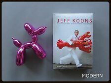 JEFF KOONS CONVERSATIONS BOOK + POP ART BALLOON DOG FIGURE SET -  RED or PINK
